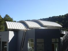 curved metal roof panels roofing decoration throughout proportions 1920 x 1080 auf Curved Corrugated Metal Roof Panels Metal Roofing Systems, Roofing Materials, House Siding, House Roof, Corrugated Metal Roof Panels, Quonset Hut Homes, Metal Roof Houses, Shingle Colors, Asphalt Roof Shingles