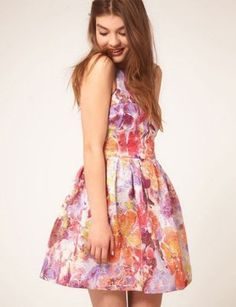 Buy ASOS Lantern Dress in Darling Buds Print at ASOS. Get the latest trends with ASOS now. What To Wear To A Wedding, How To Wear, Flare Dress, Dress Up, Shower Dresses, Prom Party Dresses, Graduation Dresses, Themed Outfits, Pretty Dresses