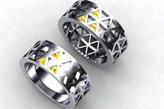 10 anéis de casamento que encantam os nerds - Triforce do Legend of Zelda