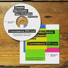 CD cover and CD artwork design for Great Manchesters Jazz Orchestra. By Fi From Fi&Becs Design ( Cd Artwork, Artwork Design, Cd Cover Design, Jaz Z, On Today, Orchestra, Branding, Graphic Design, Photo And Video