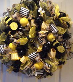Guirnalda de bumble bee deco malla por MadeForBri en Etsy