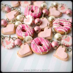 pulseira amor com donut - pink