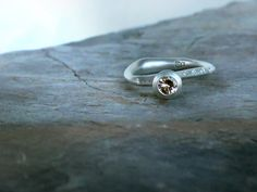 Chanterelle Ring + Tourmaline.  Alternative bridal engagement ring by Rosemary Mifsud.  Currently available in the online shop.  OOAK!