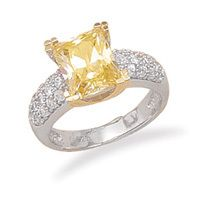 Teresa Williams Gift Shop - Rhodium and 14 Karat Gold Plated Yellow CZ Ring, $82,157.00 (http://teresawilliamsgiftshop.com/rhodium-and-14-karat-gold-plated-yellow-cz-ring/)