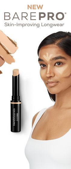 Create long lasting looks with BAREPRO skin improving concealer. Crease and smudge proof, the sticks are perfectly designed to create contours and high definition looks. Tap to get your new favourites now.