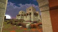 Minecraft sandstone houses