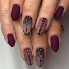 elegant black stiletto nail designs for winter holidays 123 Best Nail Art Designs, Beautiful Nail Designs, Acrylic Nail Designs, Oval Nails, Toe Nails, Stylish Nails, Trendy Nails, Nagellack Design, Nagel Gel