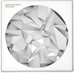 Jeffrey Docherty Meredith Bragg, Silver Sonya #circle #lines #design #graphic #album #record #cover