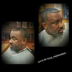 Salt and pepper...Even cut w/beard trim