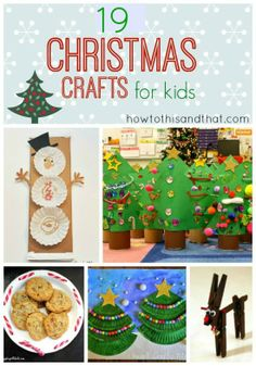 19 Quick And Easy Christmas Crafts For Kids. A collection of Cute, Quick and Easy Christmas crafts for kids including coffee filter snowmen Preschool Christmas, Christmas Crafts For Kids, Simple Christmas, Christmas Projects, Winter Christmas, Holiday Crafts, Holiday Fun, Christmas Holidays, Christmas Countdown