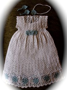 Antique Doily Dress Newborn Thread Crochet Pattern. via Etsy.