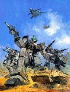 Gundam 0078 paintings by Yasuhiko & Takani.