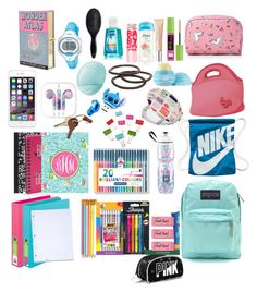 """back to school what's in my backpack"" by camilleibonjour ❤ liked on Polyvore featuring interior, interiors, interior design, home, home decor, interior decorating, Dot & Bo, Simple Pleasures, Kate Spade and BIC"