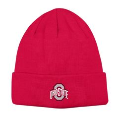 Adult Ohio State Buckeyes Knit Hat, Red