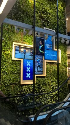 Living green combined with bright displays in Perry Sports new flagshipstore at Kalverstraat Amsterdam by EversPartners