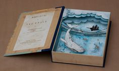 Moby Dick Shadowbox - Suzette Korduner | Freelance Illustrator