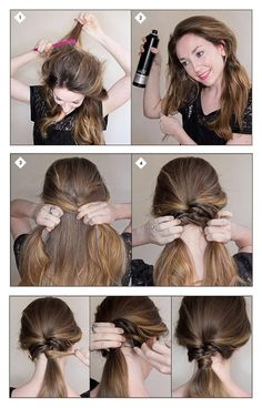 Make a Textured Ponytail | hairstyles tutorial