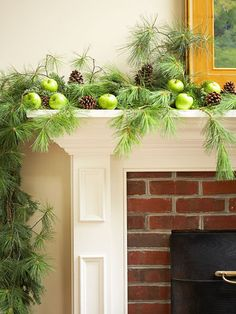 Unique decorative mantle that strays away from the traditional red and green colors of the holidays #AvilaLighthouseSuites