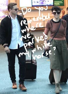 Once Upon a Time, Ginnifer Goodwin And Josh Dallas Arrived At The Vancouver Airport