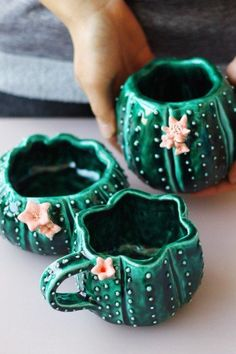 Студия керамики Julia Shi OFF our custom mugs from our store. Gift for him, gift for her, gift for mom, gift for dad and so on. Ceramics Projects, Clay Projects, Clay Crafts, Ceramics Ideas, Ceramic Pottery, Ceramic Art, Cactus Ceramic, Ceramic Mugs, Ceramic Pinch Pots