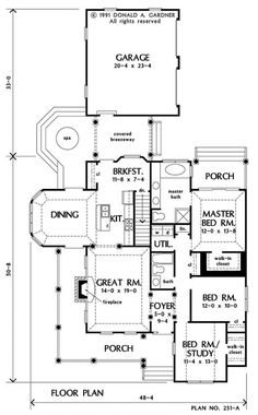 The Haversham House Plan - Basement Stairs