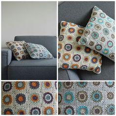 Crochet pillows granny square