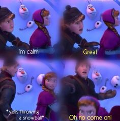"""""""It is NOT nice to throw people!"""" """"Let the snowman be!"""""""