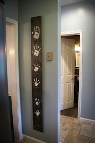 Family Hands Wood Wall Art, might try with a small squares for each hand
