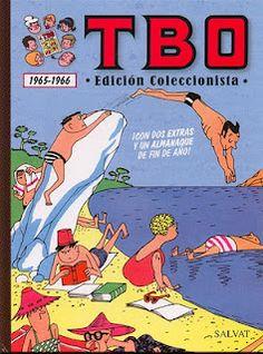 """TBO 1965-1966 (Con dos extras y un almanaque de fin de año).    Contenido:  TBO Extraordinario de Vacaciones de 1965.  TBO Número extraordinario Selección de las mejores historietas publicadas en los """"años cuarenta"""".  Almanaque TBO para 1966."""