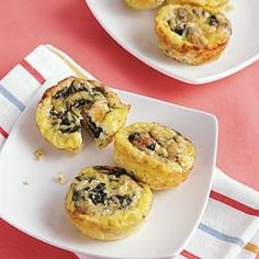 These cute little crustless quiches are ideal for families on the go. Whip up a batch (or two) on Sunday evening, and you have an easy go-to breakfast for busy weekday mornings. They're also quite versatile–this version features spinach and mozzarella, but cooked broccoli and cheddar or crispy bacon are yummy substitutes or additions. They freeze well, too.