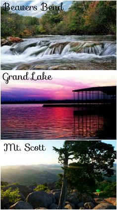 Huge lakes, breathtaking mountains, fun resorts and rushing waterfalls are all part of some of Oklahoma's most beautiful vacation destinations.