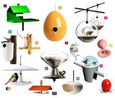 Design bird houses and feeding tables