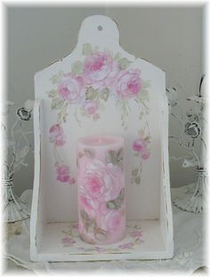 Rose Candle with Shelf
