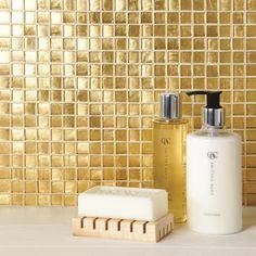 Gold Bathroom Tiles Uk original style tiles - stellar aluminium mosaic mosaic wall tile