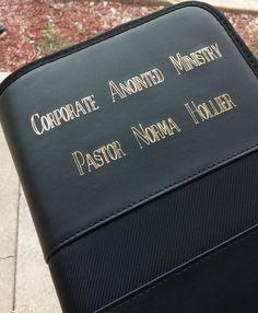 Leather CD Case, Gold Foil Transfer