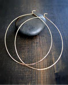Solid Gold Hoop Earrings