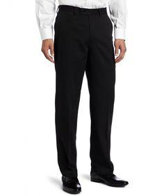 Men's Big Flat Front Gabardine Solid Dress Pant - Black - CH11D08NU6H,Men's Clothing, Pants  #Outdoor #Pants #Men #Pants Tall Pants, Black Pants, Mens Clothing Styles, Men's Clothing, New Mens Fashion, Men's Fashion, Chino Joggers, Slim Fit Chinos, Mens Fleece