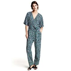 H&M Leopard boho printed jumpsuit H&M / Size: 4 / Leopard printed jumpsuit / Worn once and in new condition H&M Other