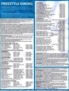 Menus For Restaurants On Ncl Breakaway Cruise Pinterest Menu Cruises And Restaurants