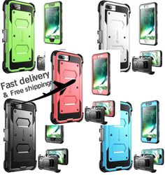 iPhone 7 Plus Case Daul Layer Full body Heavy Duty Protection Shock Reduction…