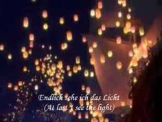 Tangled - I see the light (German Subs+Trans) - YouTube- this is the prettiest version on at last I see the light!