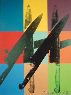Andy Warhol - Knives, 1981-82 (multi squares)