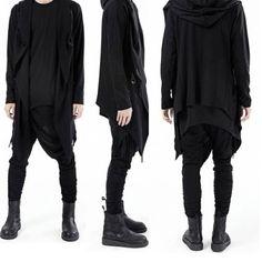 street-health-goth-cardigan-oversized-hood