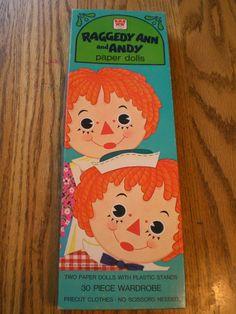 Vintage Raggedy Ann Andy Paper Dolls Double Set 1974 1975 Whitman | eBay