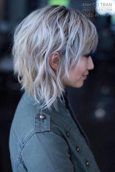 Co Tran Punk Hair Asymmetrical Tran Medium Hair Styles, Curly Hair Styles, Mullet Hairstyle, Updo Hairstyle, Brown Blonde Hair, Brunette Hair, Grunge Hair, Great Hair, Hair Today