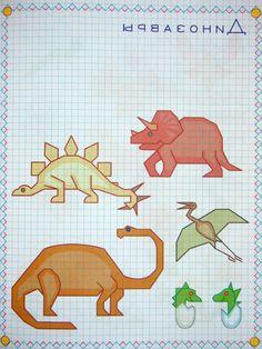 Graph Paper Drawings, Graph Paper Art, Art Drawings, Teaching Kids, Kids Learning, Drawing Grid, Square Drawing, Art Perle, Calligraphy Tutorial