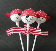 #Halloween Cake Pops #Pirates tried making these for the first time.  they turned out pretty good for my first time.