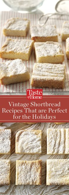 There's no better way to celebrate Christmas than baking up a few dozen shortbread cookies. Bake up a few of these handpicked shortbread recipes! Holiday Cookies, Holiday Desserts, Holiday Baking, Just Desserts, Holiday Recipes, Recipes For Christmas, Finger Desserts, Shortbread Recipes, Cookie Recipes