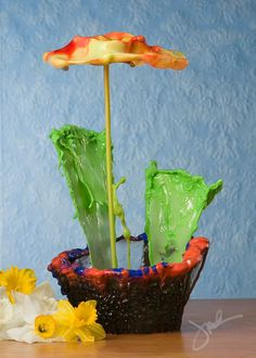 """Incredible Water Splash Flowers by Jack Long   Bored Panda milwaukee artist claims """"Wanted to advance my fluid suspension/high speed photography to a higher level. """" sing exposure. no photo shop.    >>fraction of a second flowers! whhhat?"""