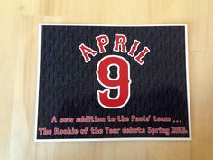 Our pregnancy announcements! Feel free to implement, copy, and improve upon!  #baseball #redsox #baby